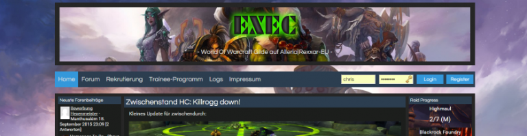 Exec Guildpage